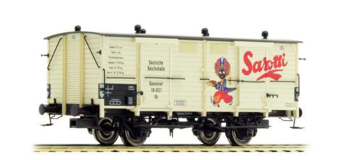 """Brawa 48658 Carro merci Car Bay """"Sarotti"""" delle DB"""