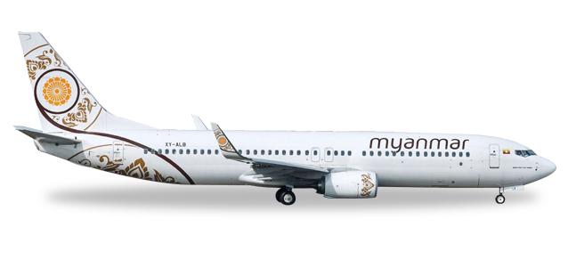 Herpa 530538 Boeing 737-800 Myanmar Nationl Airlines