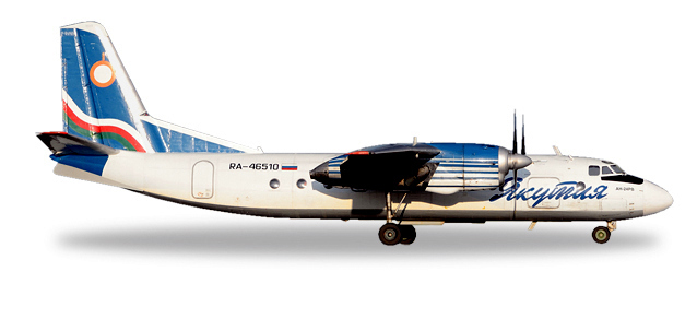 Herpa 558839 Antonov AN-24RV Yakutia Airlines