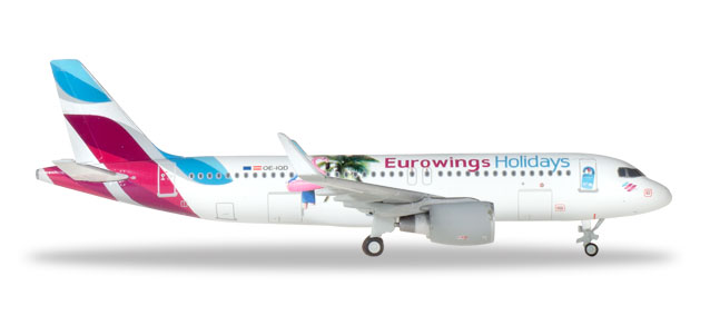 "Herpa 562676 Airbus A320 ""Eurowings Holidays"""