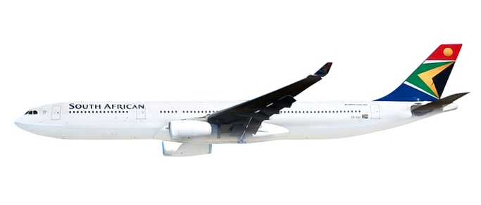 Herpa 612074 Airbus A330-300 SOUTH african Airwaye