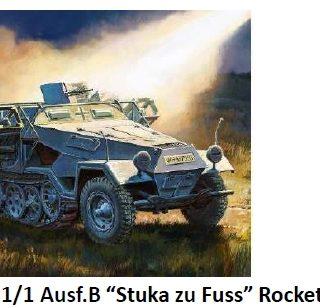 ZVEZDA 6243 Sd.Kfz.251/1 Ausf.B Stuka zu Fuss