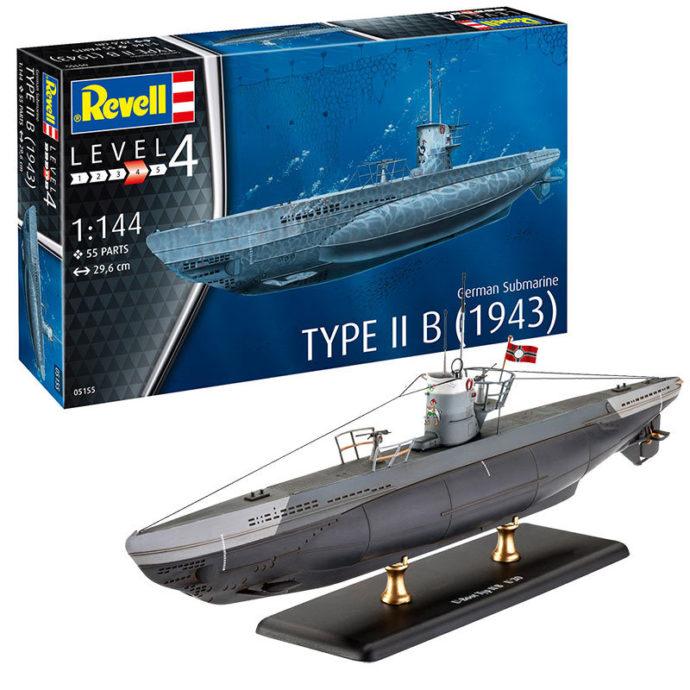 Revell 65155 German Submarine Type IIB (1943) MODEL SET