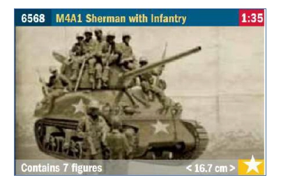 ITALERI 6568 M4A1 Sherman with Infantry