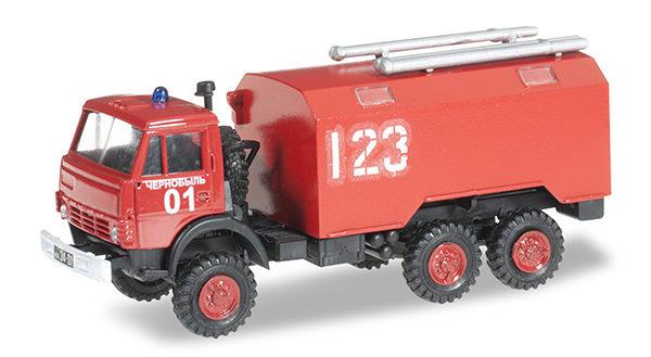 Herpa 744966 Kamaz 5320 Koffer-LKW pompieri