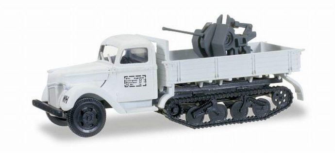 Herpa 745277 Ford Maultier V3000 S/SSM Flak 20mm   mimetizzato inverno
