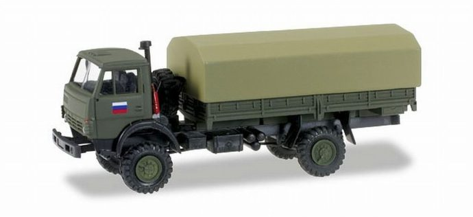 Herpa 745284 Kamaz 5320 camion telonato Russia