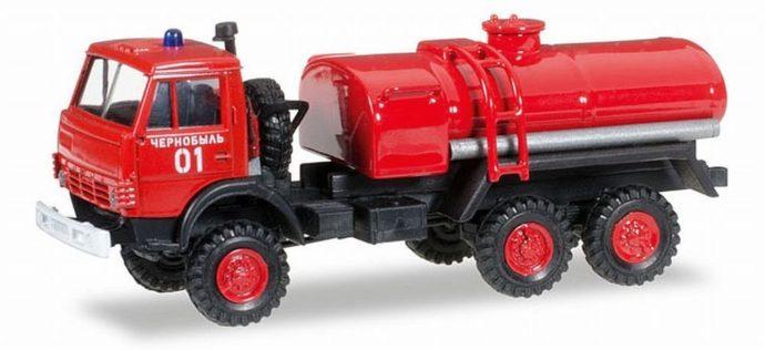 Herpa 745413 Kamaz 4320 cisterna pompieri