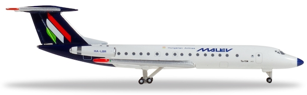 Herpa 532914 TUPOLEV TU-134A-3 MALEV HUNGARIAN AIRLINES