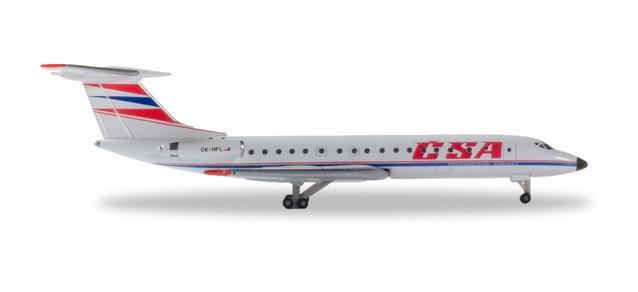 Herpa 532945 TUPOLEV TU-134A CZECHOSLOVAK OK-HFL