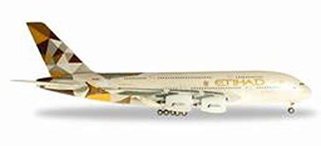 """Herpa 557092-001 AIRBUS A380-A6-APB """"ETIHAD"""""""