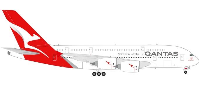 Herpa 559423 AIRBUS A380 QANTAS NUOVI COLORI