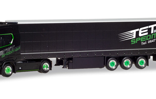 "Herpa 310253 SCANIA CS 20 HD SEMIRIMORCHIO TELONATO ""TET SPEDITION"""