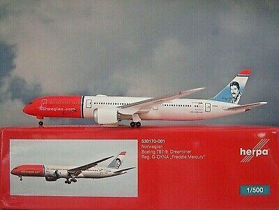 """Herpa 530170-001 BOEING 787-9 DREAMLINER NORWEGIAN """"FREDDY MERCURY"""""""