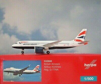 Herpa 532808 AIRBUS A320NEO BRITISH AIRWAYS