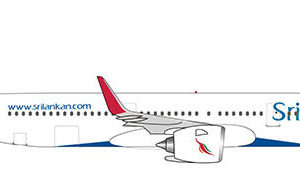 Herpa 532884 AIRBUS A321NEO SRILANKAN AIRLINES