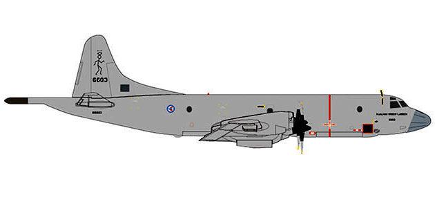 Herpa 532907 LOCKEED P-3N ORION NORWEGIAN AIR FORCE