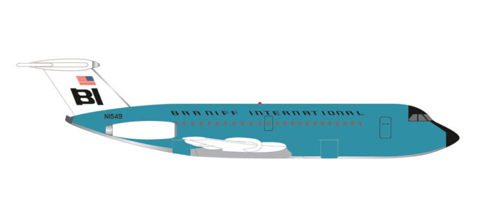 Herpa 533010 BAC 1-11-200 BRANIFF INTERNATIONAL