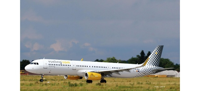 "Herpa 533218 AIRBUS A321 VUELING ""DON'T FORGET TO SMILE"""