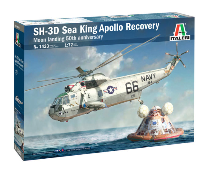 ITALERI 1433 SH-3D Sea King Apollo Recovery 50° Ann. Moon landing