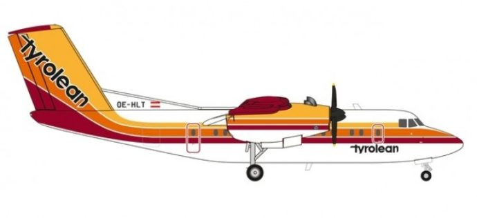 Herpa 559553 De Havilland DHC-7 Tyrolean Airlines