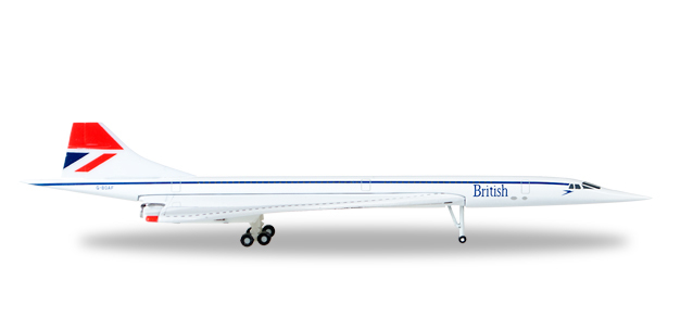 Herpa 527477-001 Concorde-G-BOAA Negus color Britsh Airways