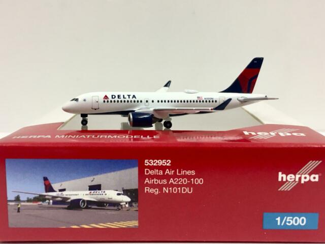 Herpa 532952 Airbus A220-100 Delta Air Lines
