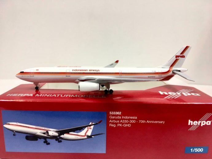 Herpa 533362 Airbus A330-300 70th anniversario Retro colori