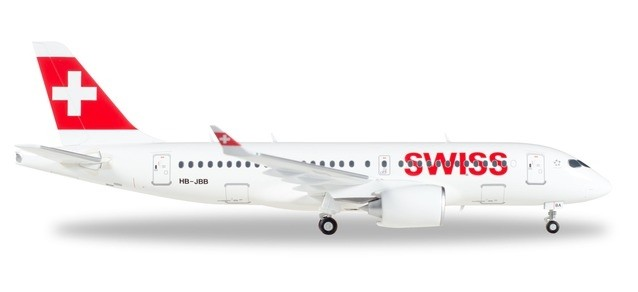 Herpa 558471-001 Airbus A220-100 Swiss International Air Lines