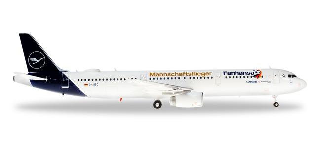 """Herpa 559416 Airbus A321 Lufthansa """"Mannscaftslieger"""""""