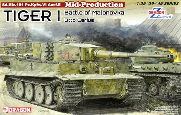 Dragon 6888 Tiger I Mid-Production w/Zimmerit Otto Carius