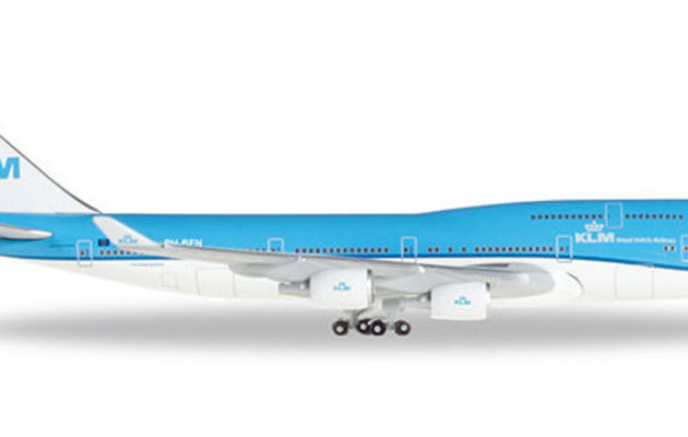 """Herpa 529921-001 Boeing 747-400 KLM """"City of Nairobi"""""""