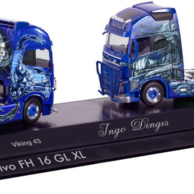 Herpa 110969 Set 2 motrici Volvo FH 16 Ingo Dinges
