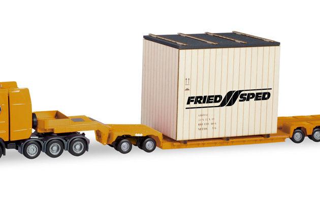 Herpa 310864 Scania CS 580 trasporto eccezionale Friedsped