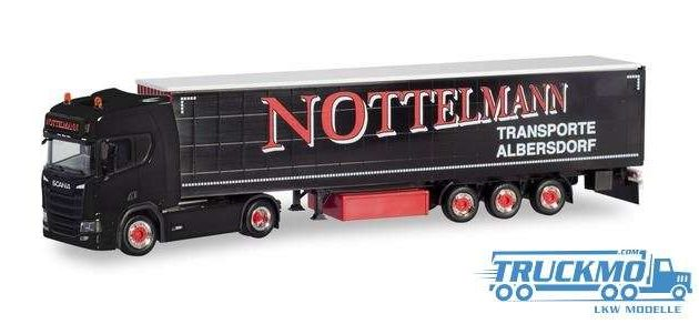 "Herpa 311038 Scania CR HD con rimorchio ""Spedition Hohner/Tinka"""