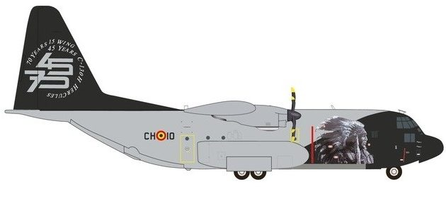 Herpa 559843 Lockheed C-130H Hercules 70th Anniversario