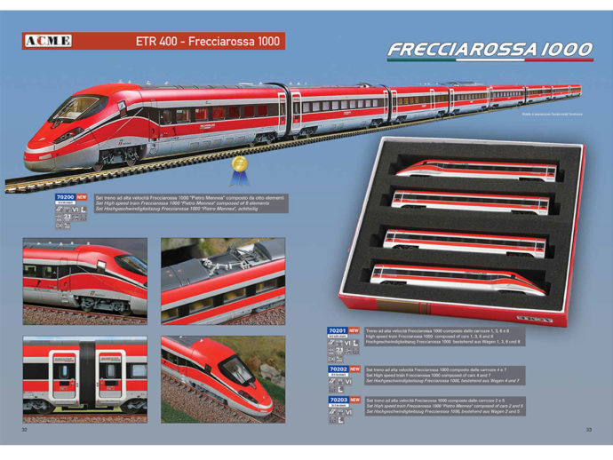 Acme 70200 Set 8 elementi Trenitalia Frecciarossa 1000 'Pietro Mennea'