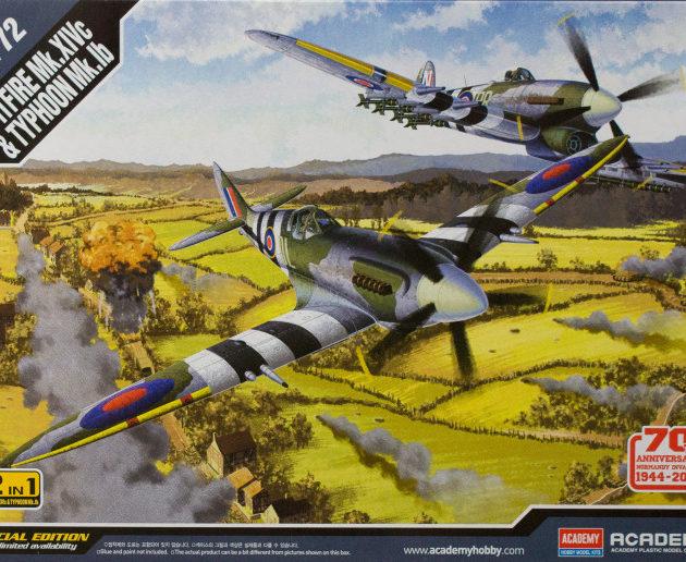 ACADEMY 12512 Spitfire Mk.Xivc & Typhoon Mk.Ib Include 2 Modelli