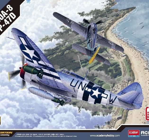 ACADEMY 12513 Fw190a-8 & P-47d Include 2 Modelli