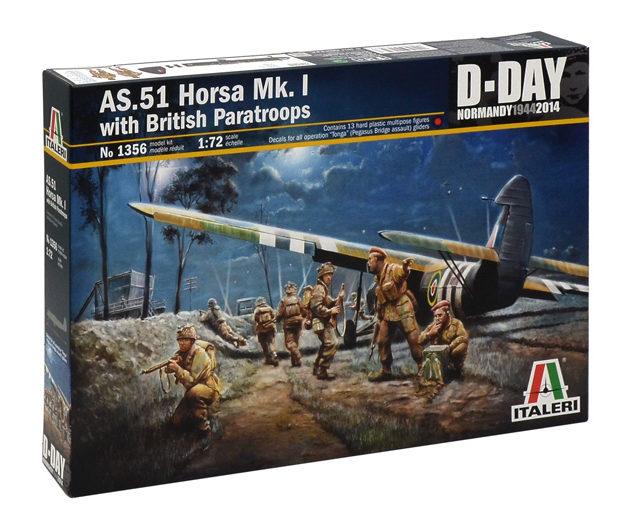 ITALERI 1356 As.51 Horsa Mk.I/Ii & British Paratroops