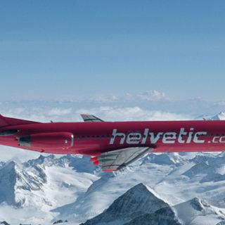 Herpa 559966 Fokker 100 Helvetic