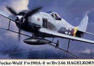 HASEGAWA HA01984 FOCKE-WULF FW190-A-8 W/BV246 HAGELKORN