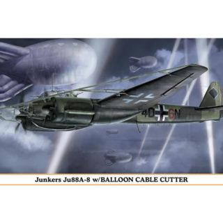 HASEGAWA HA01999 JUNKERS JU88A-8 W/BALLOON CABLE CUTTER