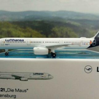 """Herpa 533621 Airbus A321 Lufthansa """"Die Maus"""""""