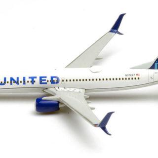 Herpa 533744 Boeing 737-800 United Air Lines nuovi colori 2019