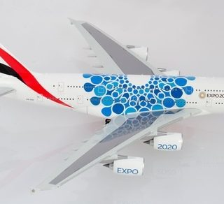 Herpa 570800 Airbus A380 Emirates Expo 2020 Dubai